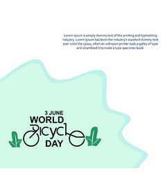 World bicycle day celebration template design vector