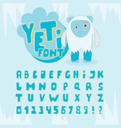 Yeti font vector