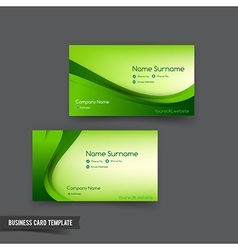 Business Card template set 048 green curve element vector image