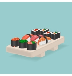 Japanese Food Sushi and rolls vector image