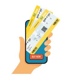 online booking ticked buy ticket online vector image vector image