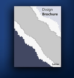 brochure booklet cover design templates collection vector image vector image