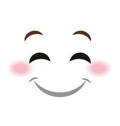happy face emoticon kawaii style vector image vector image