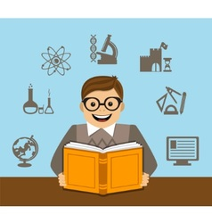 learning and self-development vector image