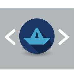 paper boat icon vector image vector image