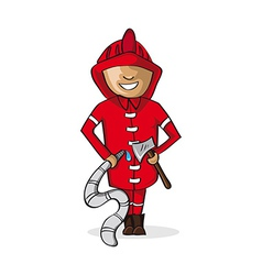 Profession fire man cartoon figure vector image vector image