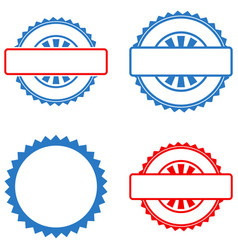 seal stamp template flat icons vector image vector image