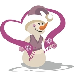 Snowman color 22 vector image vector image