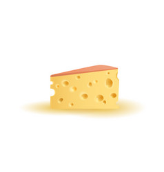 Triangular piece of cheese vector