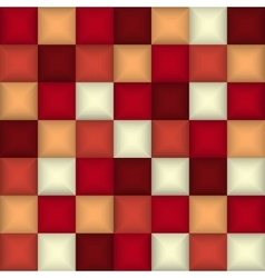 3d square mosaic Abstract colorful background vector image vector image