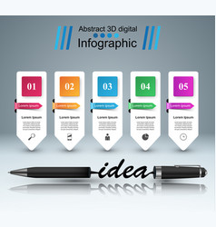 business infographics pen idea icon vector image