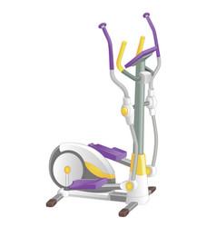 elliptical machine gym isolated on white vector image