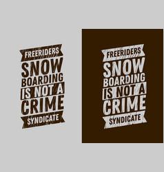 snowboard typographic tee print design scribble vector image