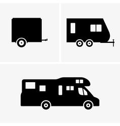 Auto trailer vector image vector image