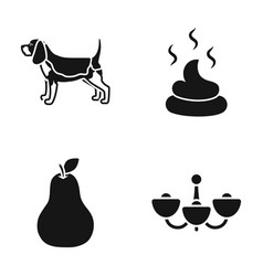 Breed cooking and or web icon in black style vector
