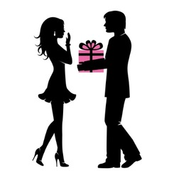 displays of affection in a pair vector image vector image