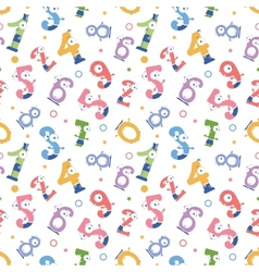 Fun numbers seamless pattern background vector image