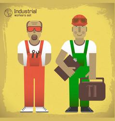 industrial workers concept vector image