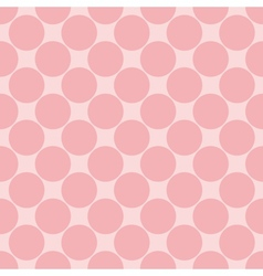 Tile pattern with polka dots on pink background vector image vector image