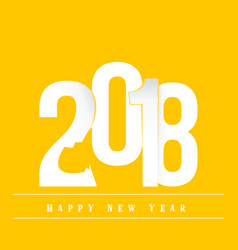 2018 happy new year poster of the year of the vector image