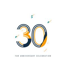 30 year retro anniversary celebration template vector