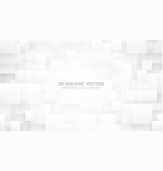 3d squares conceptual white background vector