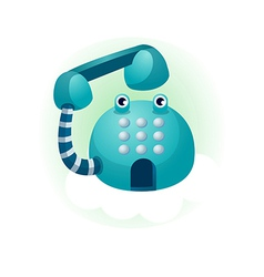 A phone is placed vector image