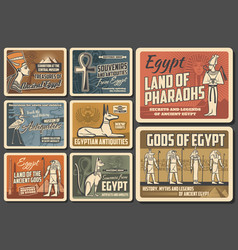 Ancient egypt culture and cairo landmarks posters vector