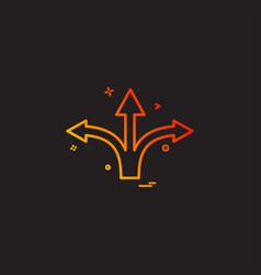 Arrow straight right left icon design vector