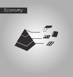 Black and white style icon economic pyramid vector