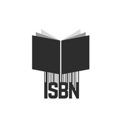 Black isbn with barcode and book vector