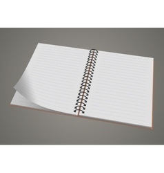 Blank realistic spiral notepad notebook isolated vector image