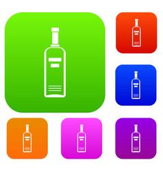 bottle of vodka set collection vector image