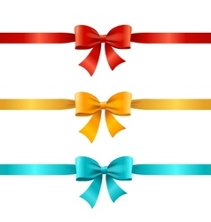 Bow and Ribbon Set vector image