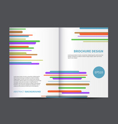 Brochure or magazine cover design template vector