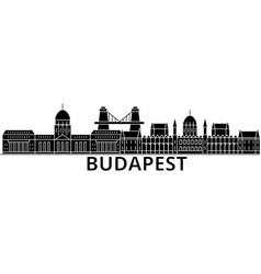 Budapest architecture city skyline travel vector