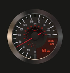 Car Dashboard Speedometer vector