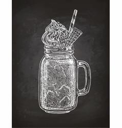 Chalk sketch milkshake vector