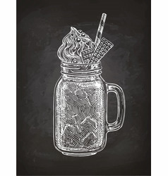 Chalk sketch of milkshake vector