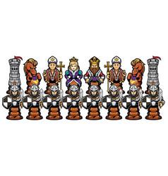 Chess cartoon figures vector