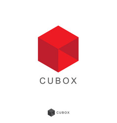 cube box logo icon design vector image