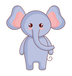 Cute and tender elephant character vector