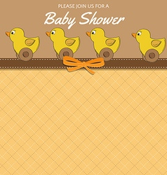 Delicate baby shower card with toys vector image