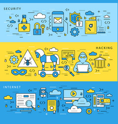digital blue internet security data vector image