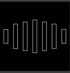 digital signal white color path icon vector image