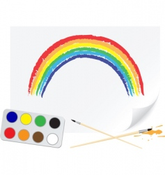 drawing rainbow vector image