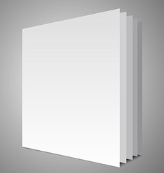 Empty book layout vector image