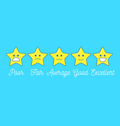 Feedback emoticon star scale line design positive vector