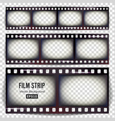 Film strip set realistic frame strip blank vector