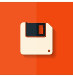 Floppy disk icon Flat design vector image